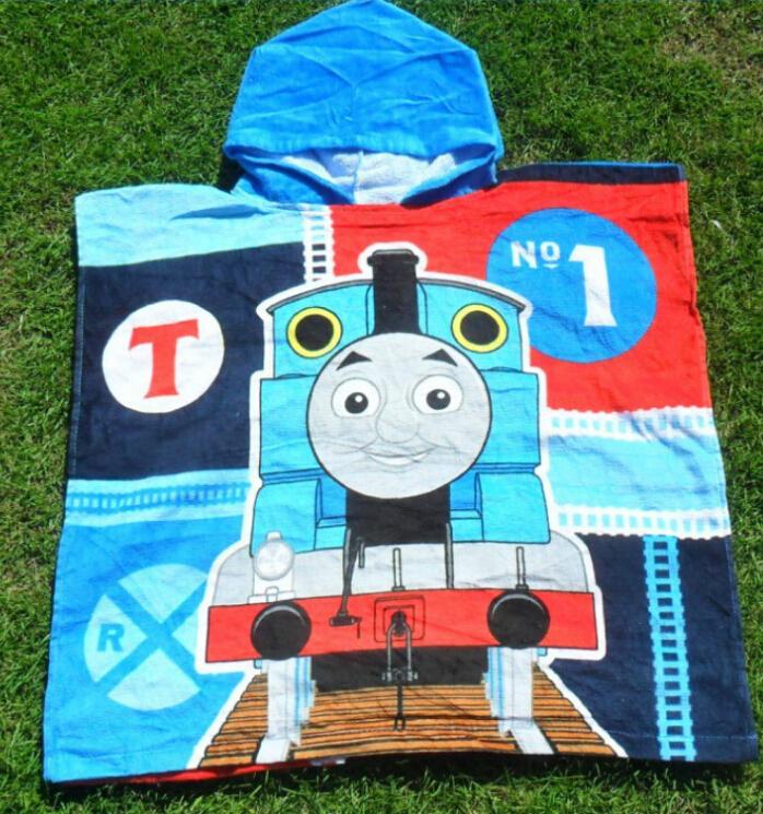 Free shipping new Foreign trade Thomas microfiber towel cartoon children swimming beach towel, towels bathrobe(China (Mainland))