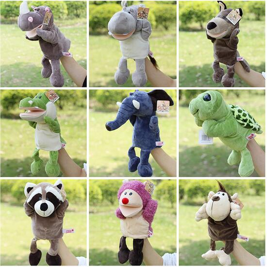 Infant Children Hand Puppet kids baby plush Stuffed Toy animal series with foot Puppets toys Christmas birthday gift