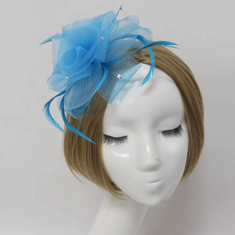 Handmade Unique Lady Wedding Fascinator Feather Veil Headband Hair Accessory(China (Mainland))