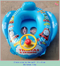 Swimming laps baby Water sports infant seat thickening inflatable float ring steering children swimming laps PVC swimming circle(China (Mainland))