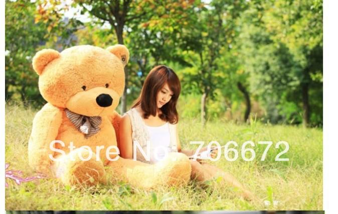 New stuffed circled-eyes light brown teddy bear Plush 80 cm Doll 31 inch Toy gift wb8708(China (Mainland))