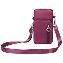 Sacos de bolsas de Senhoras Bonito Bolsas Femininas sacos crossbody Senhoras Nylon Cor Sólida Verticais Bolsa de Ombro Diagonal Saco das mulheres(China)
