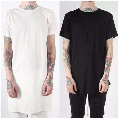Hip hop Men t shirt tyga cool extended t-shirt Low-High Short Sleeve tee top hba casual lengthen 3 colors - Brand fashion store