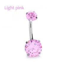 1 Pc חדש אופנה נשים בטן פירסינג פרח ריינסטון קריסטל כירורגי פלדת טבור טבעת סקסי תכשיטי מתנה(China)