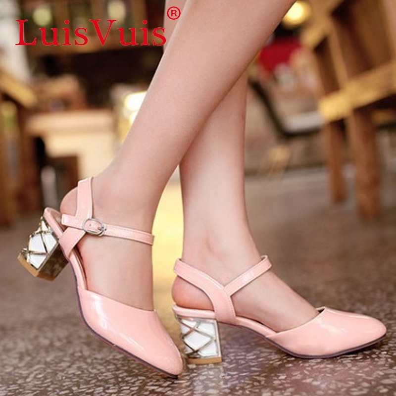 CooLcept free shipping high heel sandals women sexy platform footwear fashion shoes P14288 EUR size 31-43