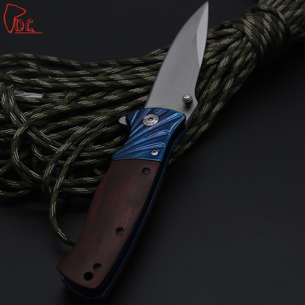 Buy Dcbear NEW Pocket Folding Knife 440C Steel Blade Utility Tactical Survival EDC Knives Camping Hunting Rescue Tools cheap