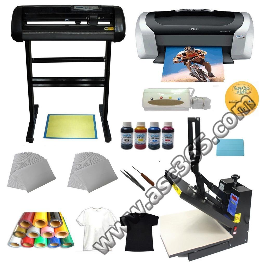 Heat press,Cutter plotter ,Printer,Ink ,Paper T-shirt Transfer Start-up Kit(China (Mainland))