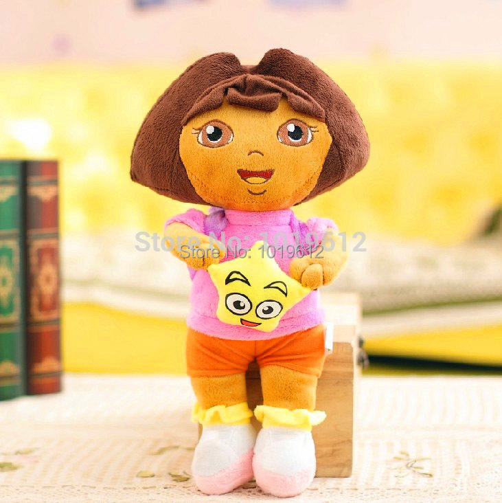 45cm Hot sale ! soft Dora Plush toy the Explorer with star Plush Dolls Toy for girl,adventure time toys 1pc(China (Mainland))