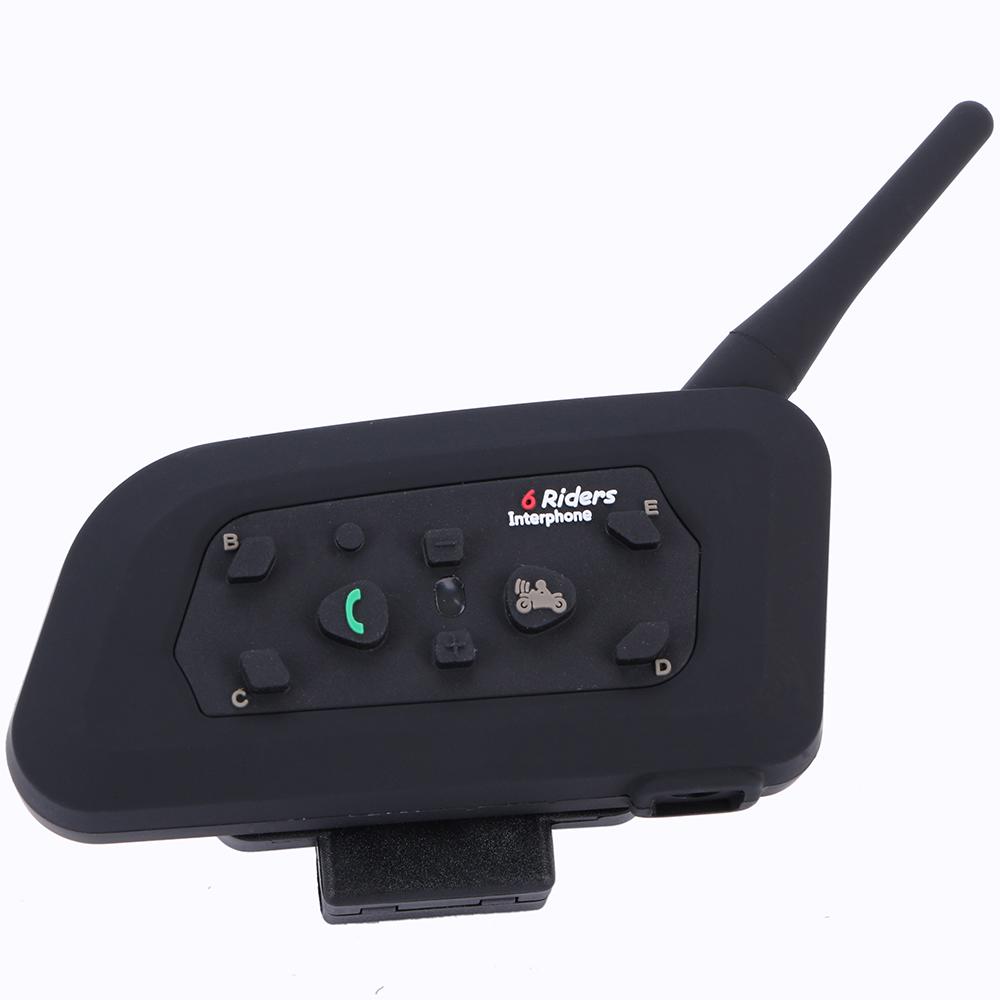 1 x BT 1200M Motorcycle Helmet Bluetooth Intercom Headset Connects upto 6 riders FREE SHIPPING