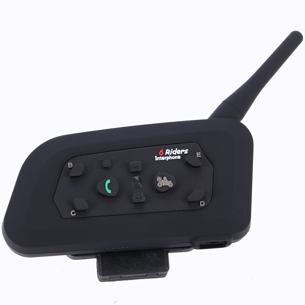 Free Shipping! 1 PC 1200M 6 Riders Motorcycle Helmet Bluetooth Intercom Headset with BQB CE Certificate Factory Cost!!(China (Mainland))
