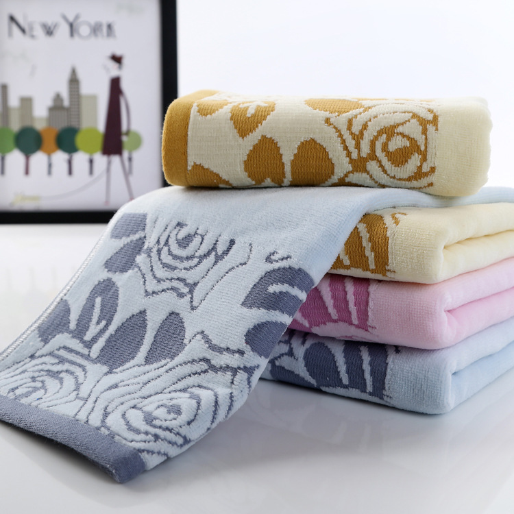 Cotton terry towel thick cotton towels Rose factory direct high-quality absorbent cotton towels Goyang(China (Mainland))
