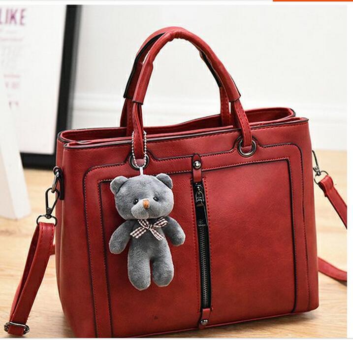 designer brand women ladies handbag shoulder top handle causal tote bags burgundy Minimalist simple British style(China (Mainland))