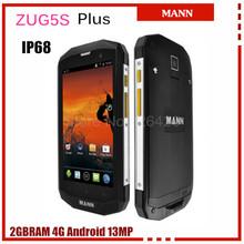 Unlocked Original MANN ZUG 5S plus Waterproof IP67 Outerdoor phone Android4.4  MSM8926 Quad Core 5.0 Inch 8MP 4G LTE GPS 4050mAh(China (Mainland))