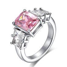 Fashion Titanium Ring CNC Set Four Zircon  Men's Ring Size 9-10-11-12 (min order 10usd)Free Shipping