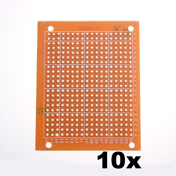 Гаджет  10PCS Breadboard Universal Printed Circuit Panel Board Prototype PCB 5x7 NG4S None Электронные компоненты и материалы