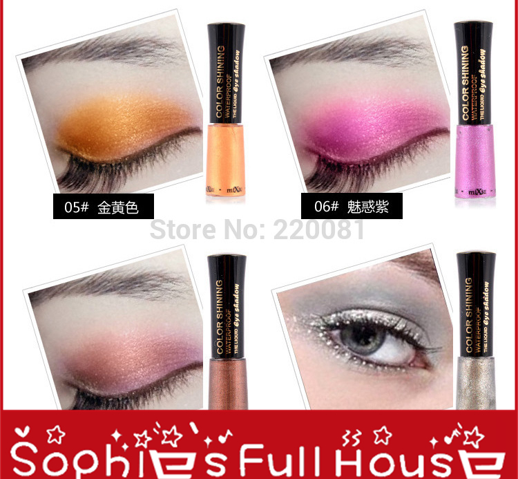 12pcs Genuine shiny pearl eyeshadow makeup agents were docile waterproof easy-blooming 8 color options(China (Mainland))
