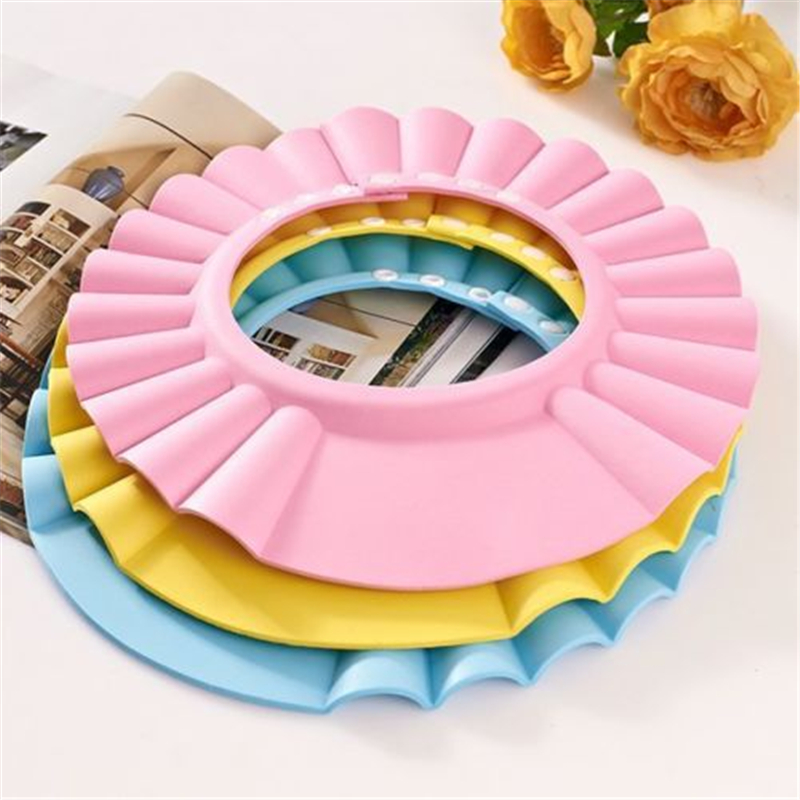 Adjustable Soft Baby Shampoo Shower Cap Baby Care Bath Protection For Kid