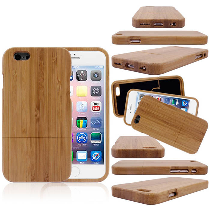 Гаджет  2015 New Genuine Natural Real Bamboo Wood Wooden Hard Case Cover For Apple iPhone 6 4.7 Inch Phone Cases Top Quality Voberry None Телефоны и Телекоммуникации