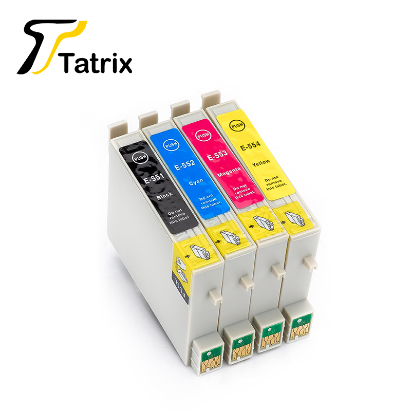 4 Color T0551 T0552 T0553 T0554 Ink cartridge T551 For Epson Stylus Photo Inkjet Cartridges RX420 RX425 RX520 R240 R245 Printer(China (Mainland))