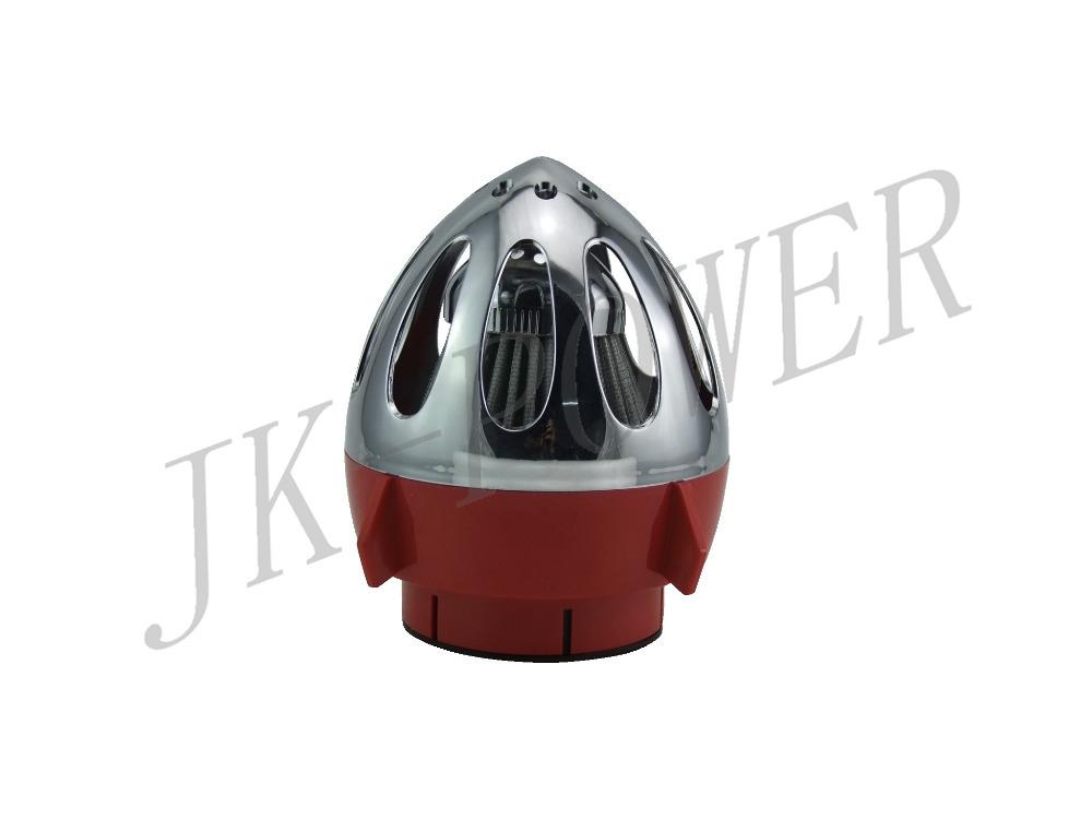 76 мм производительность пуля тепла экранированный сухой воздушный фильтр красный автомобиль холодного воздуха фильтр универсальный турботаймер холодной потребление