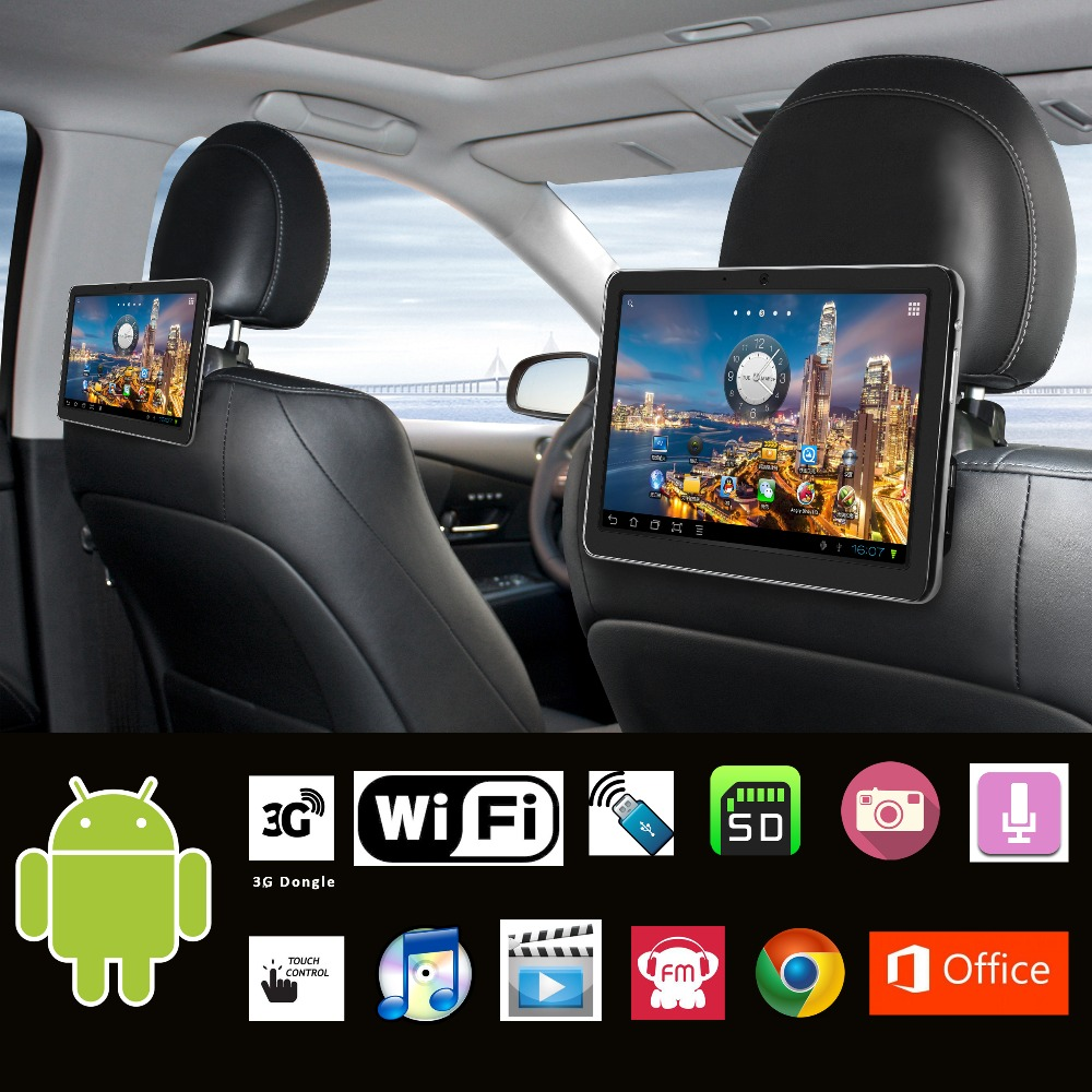 10.1 inch Car Headrest Android pad Car PC Android tablet PC Car PPC monitor with WI-Fi 3G Moderm USB SD FM SPK Camera MIC Game(China (Mainland))