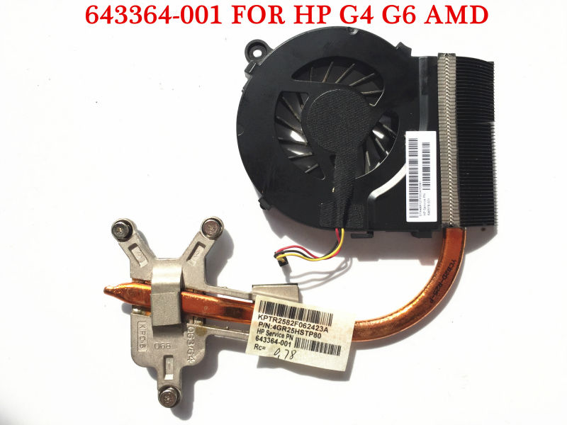 Original laptop heatsink for HP G4 G6 cooling system fan 643364-001 for AMD 2009 CPU motherboard Fully tested and Free shipping(China (Mainland))
