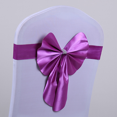 Multi Color for Choice Wedding Chair Bow Belt Elastic Chair Cover Back Flower Yarn Decoration Ribbon Wedding Event Accessories(China (Mainland))