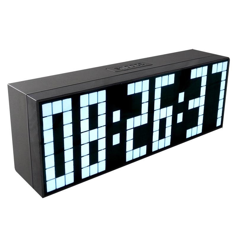 2016 New! Big Number LED Digital Clock Silent On Living Room Large Digits Digital Alarm Timer Clock Show Calendar Temperature(China (Mainland))