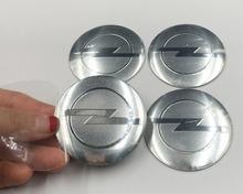 4pcs/lot Free shipping 56.5mm Opel Car Emblem Wheel Center Hub Cap Badge wheel Decal Sticker Auto accessories