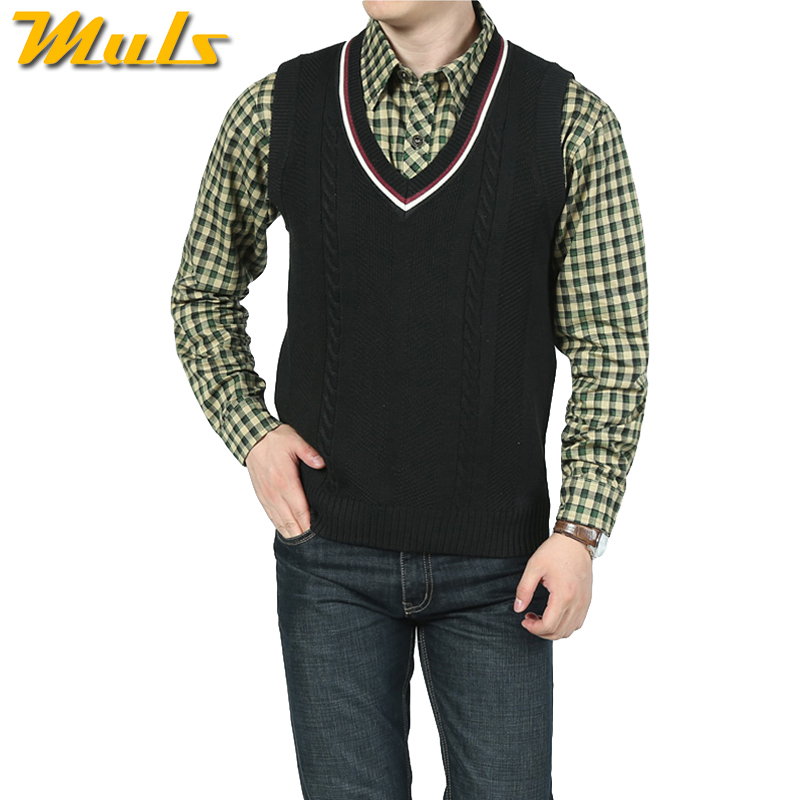 Mens cricket jersey sweater vest top Autumn england short knit solid sleeveless veste homme marque preppy style and patch SH703A(China (Mainland))
