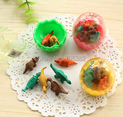 24pcs/lot, Cute dinosaur egg eraser,Funny  pencil rubber with Wholesale Price, Cartoon eraser,Free shipping (SS-1490)<br><br>Aliexpress