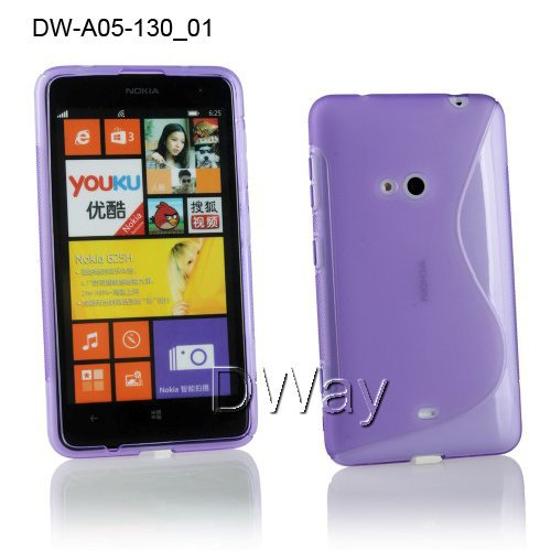 S Line TPU Rubber Gel Soft Back Cover Case Nokia Lumia 625 Phone 8 Colours - Wing Duan's store