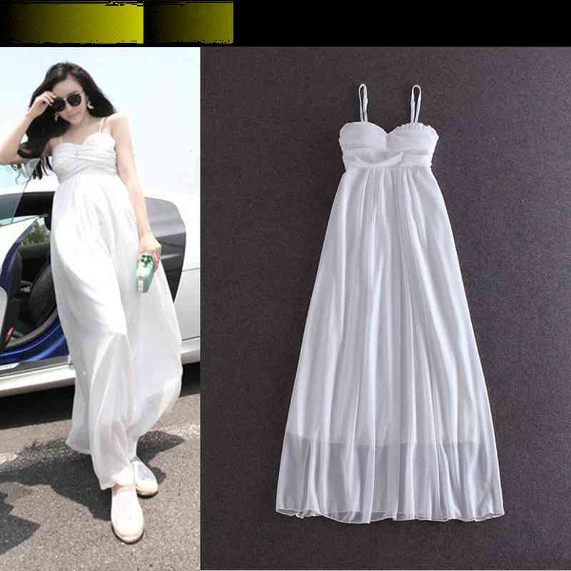 Free Shipping womens spring of 2015 boho white MOP and put straps dresses 422 1431963279(China (Mainland))