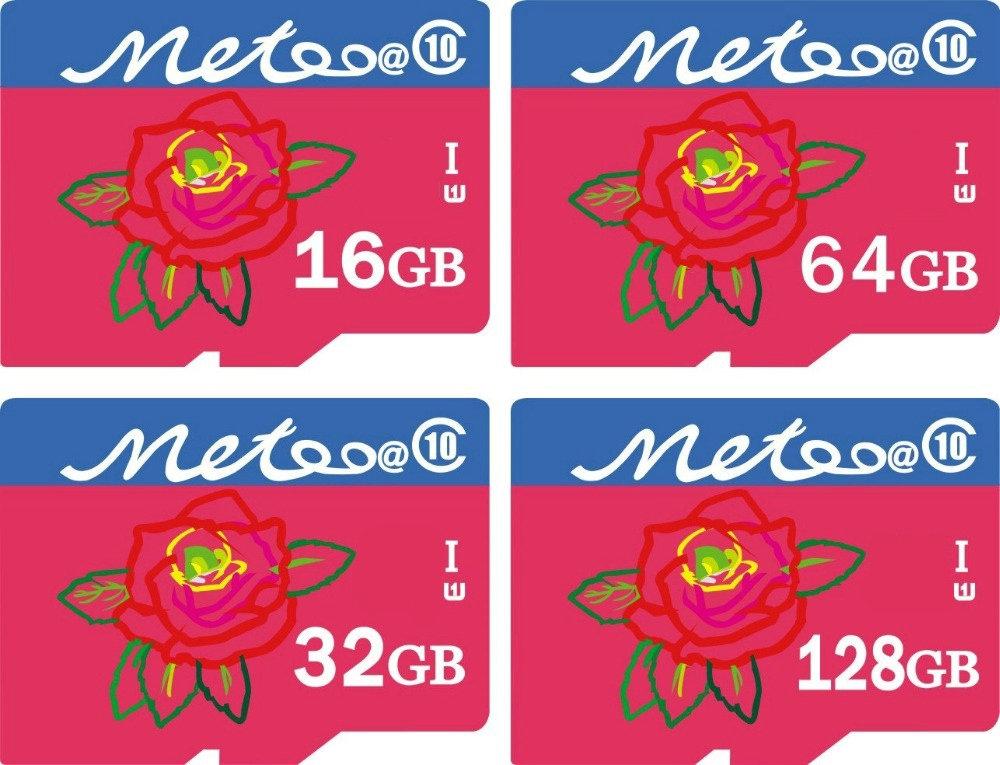 Metoo@ Ultra Micro original TF SD Card 64GB 16GB 32GB 128GB Class10 300x UHS-1 4GB 8GB Class 4 Flash Memory Card table phone