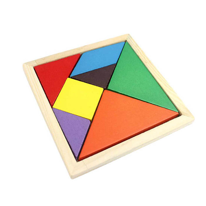 Durable 1Pcs High Quality Fashion Geometry Wooden Jigsaw Puzzle Children Education Toy Fast Shipping(China (Mainland))
