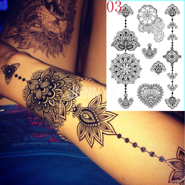 Online get cheap ink flower tattoo for Cheap tattoo ink