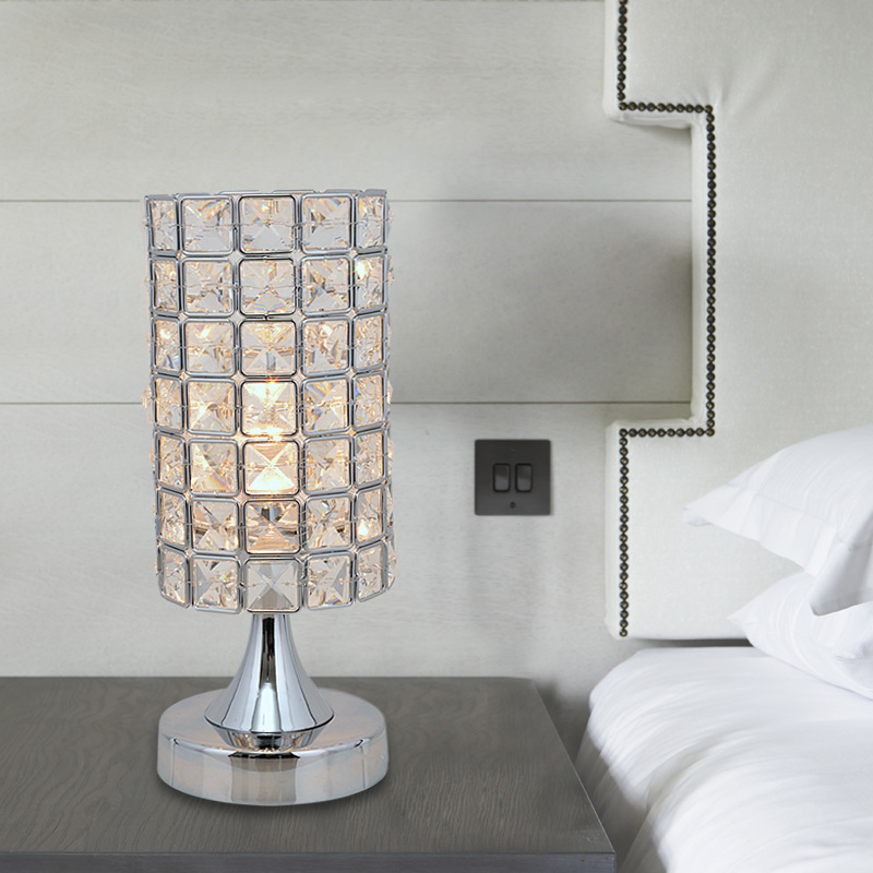 Simple modern fashion crystal decorative table lamp for Table lamps for living room modern