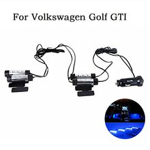 4 Pieces Car Auto Automobile Vehicle Led Interior Atmosphere Lights Decoration Blue Lamp Car Styling For Volkswagen Golf GTI