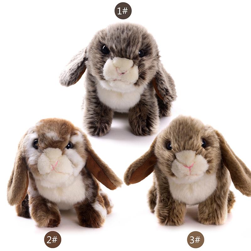 Simulation Rabbit Plush Toys Stuffed Animal Bunny Dolls Sitting Rabbit Dolls Gifts Bunny for Birthday Gifts 20*10cm(China (Mainland))