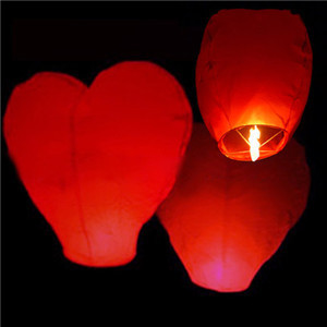 10pcs/lot Lantern Aesta Red Heart Sky Fire Chinese Lantern Flying Paper Party Outdoor Flying Fire Lamps Festa ChinesePaper Lamp(China (Mainland))