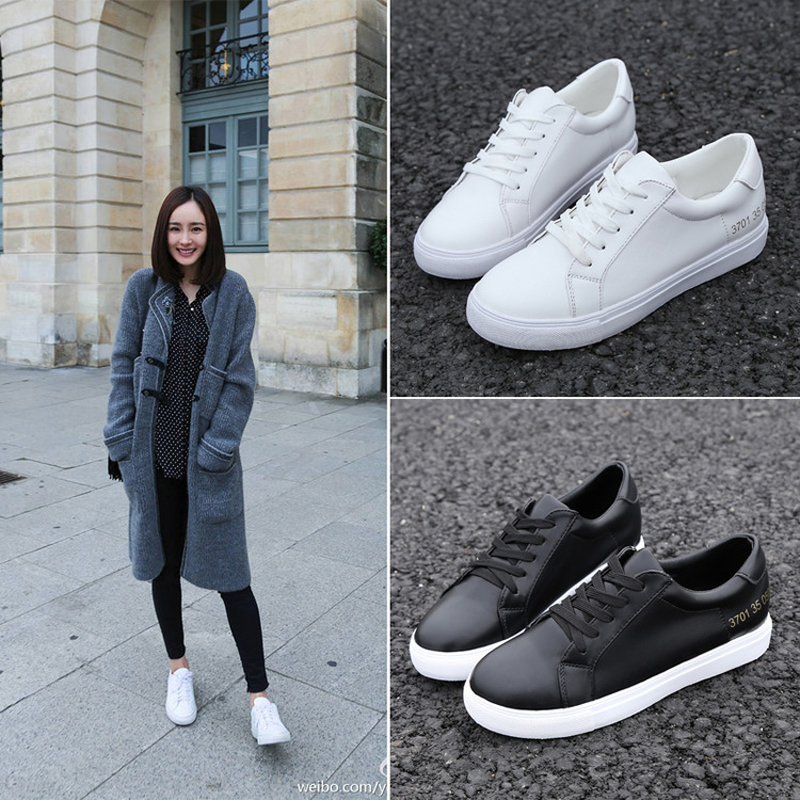 2016 Women 39 S Fashion Flats Spring Summer Style Shoes Lace Up Casual Leather Shoes Women White