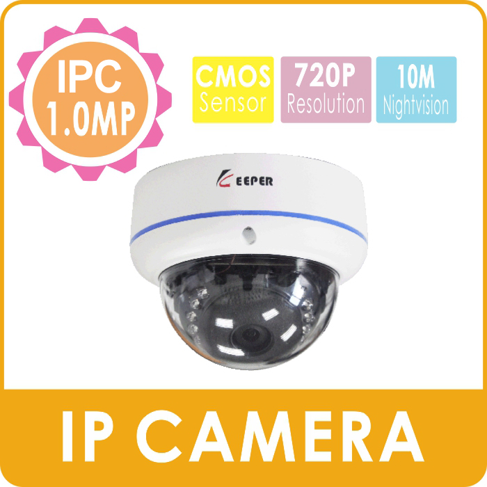 KEEPER ONVIF 720P HD Network Camera Mini Dome Indoor  IP Cam with P2P Cloud 10M Night Vision Vandalproof Indoor Dome IPC<br><br>Aliexpress