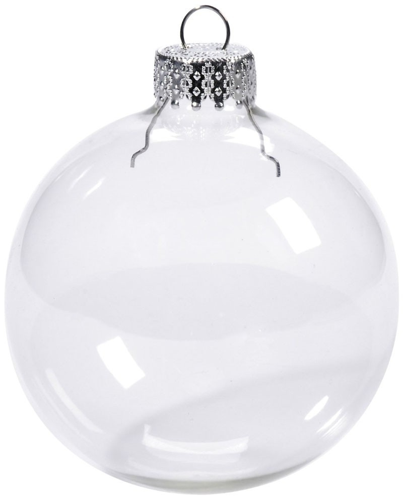 Free Shipping Wedding Bauble Ornaments Christmas Xmas Tree Glass Balls Decoration 66mm Clear Ball Ornament, 400/Pack(China (Mainland))