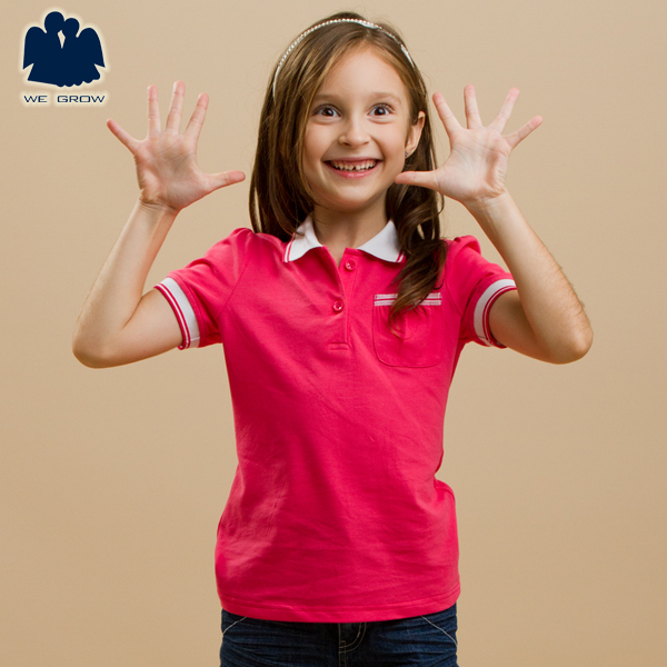 Free Shipping!!Summer Children's ActiveTops,Fashion Solid Shirts,Casual Short Sleeves Shirts,Good Quality Shirt for Girls,4J0403(China (Mainland))