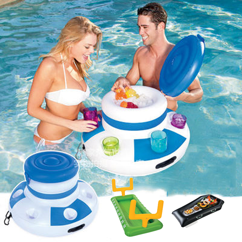 Inflatable Water Ice bucket beer drink supplier Pool Float Swimming Float for Adult Raft Swim Ring Summer Water Fun Pool Toys(China (Mainland))