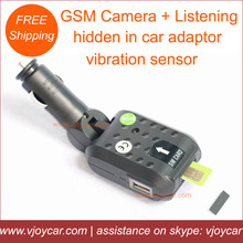 2014 new innovation, gsm camera and gsm listening device hidden in the common car charger adaptor!Secure your lovely car now!(China (Mainland))