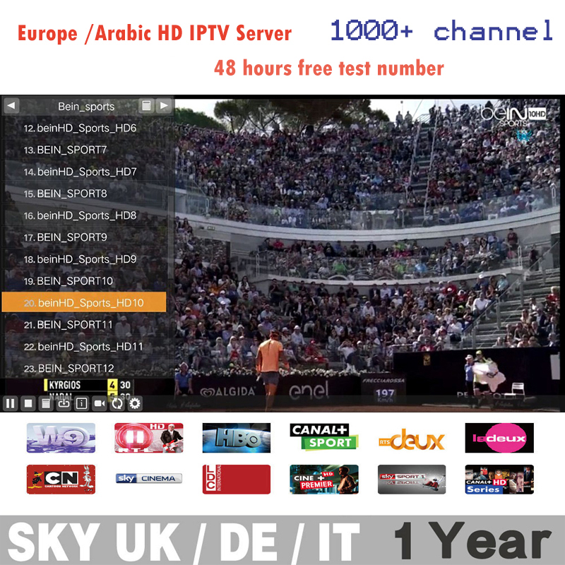 1000+ HD Channels Arabic UK ES GE NL US O2N HD Best IPTV Streaming Server Iptv Account Streamer For Mag 250 Linux/Android TV Box(China (Mainland))