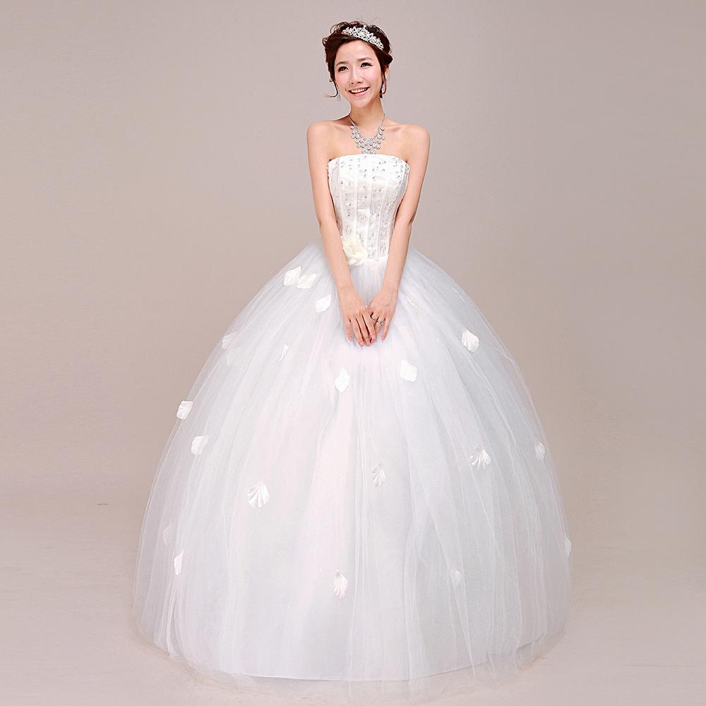 Wedding Dress New 2014 Korean Yards Qi Bra Wedding Bride