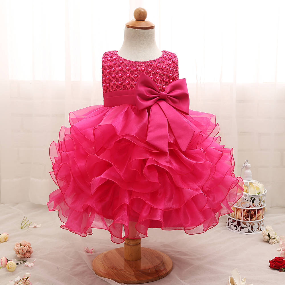 Birthday Dresses For Girls: 2019 Trendy Baby Girl Baptism Clothes Tulle Lush Dress For