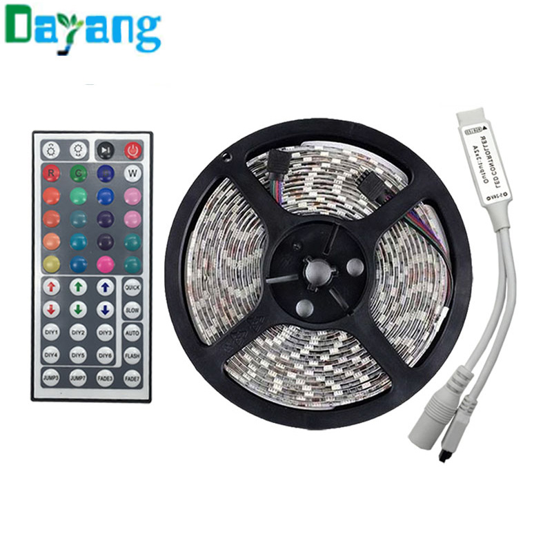Super Affordable 5M RGB LED Strip SMD 5050 60LED/M Non Waterproof 300 LED White/Blue/Green/Yellow/Red tiras led in good quality(China (Mainland))